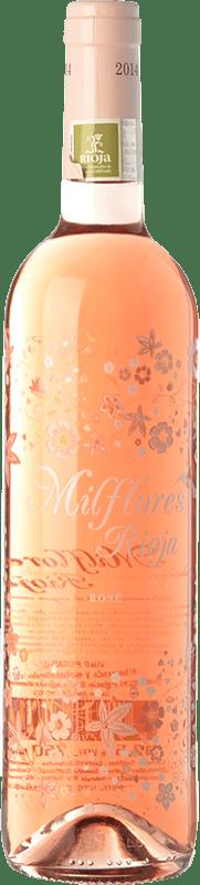 4,95 € Envío gratis | Vino rosado Palacio Milflores Joven D.O.Ca. Rioja La Rioja España Tempranillo Botella 75 cl