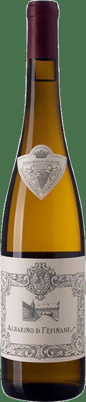 14,95 € 免费送货 | 白酒 Palacio de Fefiñanes D.O. Rías Baixas 加利西亚 西班牙 Albariño 瓶子 75 cl