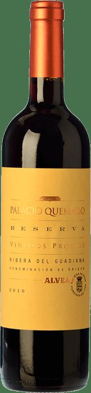12,95 € Free Shipping | Red wine Palacio Quemado Reserva D.O. Ribera del Guadiana Estremadura Spain Tempranillo, Cabernet Sauvignon Bottle 75 cl