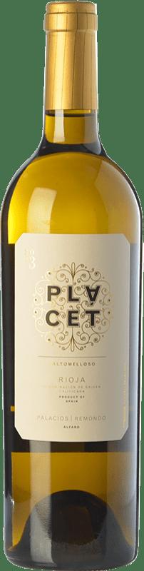 46,95 € Envío gratis | Vino blanco Palacios Remondo Plácet Valtomelloso Crianza D.O.Ca. Rioja La Rioja España Viura Botella Mágnum 1,5 L