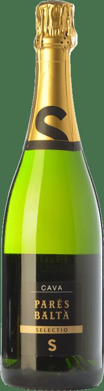 14,95 € Free Shipping | White sparkling Parés Baltà Selectio Brut Reserva D.O. Cava Catalonia Spain Macabeo, Xarel·lo, Chardonnay, Parellada Bottle 75 cl