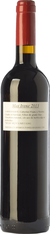 21,95 € Free Shipping | Red wine Parés Baltà Mas Irene Crianza D.O. Penedès Catalonia Spain Merlot, Cabernet Franc Bottle 75 cl