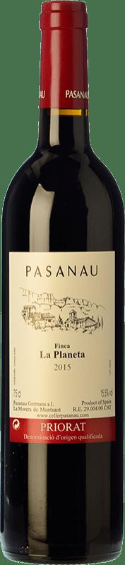 32,95 € Free Shipping | Red wine Pasanau Finca La Planeta Crianza D.O.Ca. Priorat Catalonia Spain Grenache, Cabernet Sauvignon Bottle 75 cl