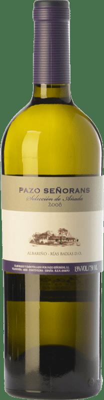 33,95 € 免费送货 | 白酒 Pazo de Señoráns Selección de Añada D.O. Rías Baixas 加利西亚 西班牙 Albariño 瓶子 75 cl