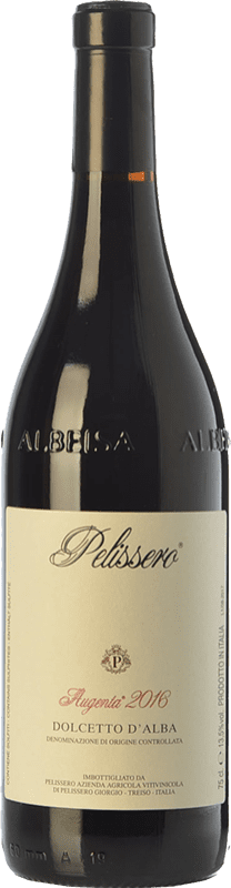 13,95 € Free Shipping | Red wine Pelissero Augenta D.O.C.G. Dolcetto d'Alba Piemonte Italy Dolcetto Bottle 75 cl