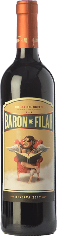 21,95 € Envoi gratuit | Vin rouge Peñafiel Barón de Filar Reserva D.O. Ribera del Duero Castille et Leon Espagne Tempranillo, Merlot, Cabernet Sauvignon Bouteille 75 cl