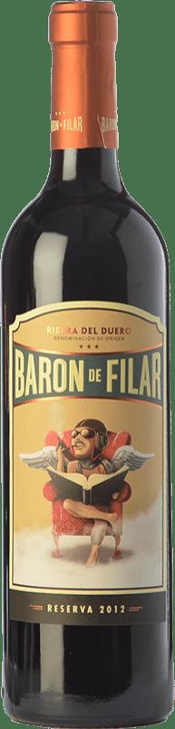21,95 € Envío gratis | Vino tinto Peñafiel Barón de Filar Reserva D.O. Ribera del Duero Castilla y León España Tempranillo, Merlot, Cabernet Sauvignon Botella 75 cl