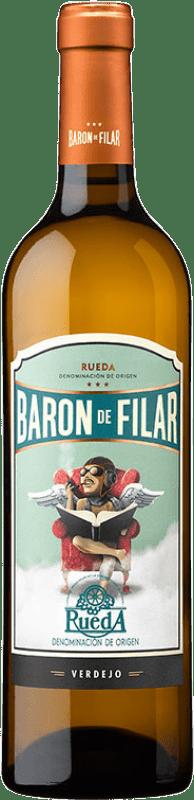 7,95 € | White wine Peñafiel Barón de Filar D.O. Rueda Castilla y León Spain Verdejo Bottle 75 cl