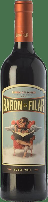 9,95 € Envío gratis | Vino tinto Peñafiel Barón de Filar Roble D.O. Ribera del Duero Castilla y León España Tempranillo, Merlot, Cabernet Sauvignon Botella 75 cl