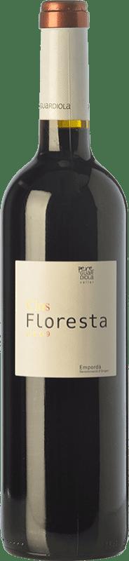 14,95 € Free Shipping | Red wine Pere Guardiola Clos Floresta Reserva D.O. Empordà Catalonia Spain Syrah, Grenache, Cabernet Sauvignon Bottle 75 cl