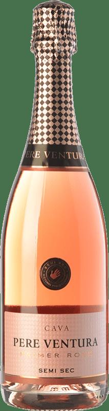17,95 € | Rosé sparkling Pere Ventura Primer Rosé Semi Sec D.O. Cava Catalonia Spain Trepat Bottle 75 cl