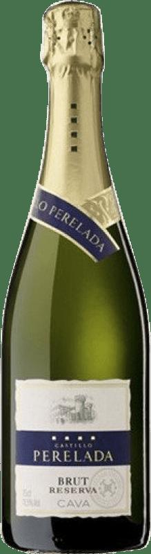 5,95 € | White sparkling Perelada Brut Reserva D.O. Cava Catalonia Spain Macabeo, Xarel·lo, Parellada Bottle 75 cl