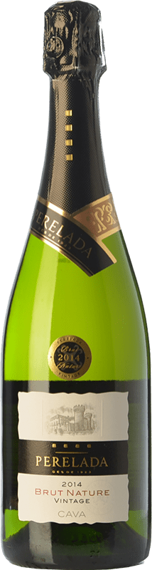 8,95 € Free Shipping | White sparkling Perelada Vintage Brut Nature D.O. Cava Catalonia Spain Macabeo, Xarel·lo, Parellada Bottle 75 cl