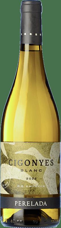 8,95 € Envío gratis | Vino blanco Perelada Cigonyes D.O. Empordà Cataluña España Macabeo, Sauvignon Blanca Botella 75 cl