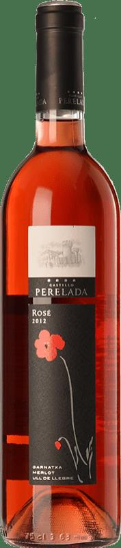 6,95 € Envío gratis | Vino rosado Perelada Joven D.O. Empordà Cataluña España Tempranillo, Merlot, Garnacha Botella 75 cl