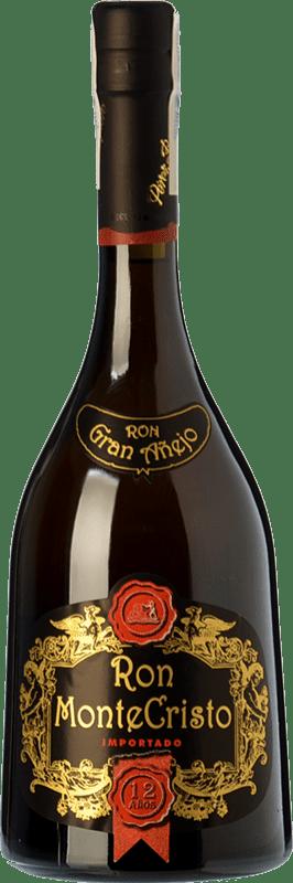 45,95 € 免费送货 | 朗姆酒 Pérez Barquero Monte Cristo 12 Años 西班牙 瓶子 70 cl