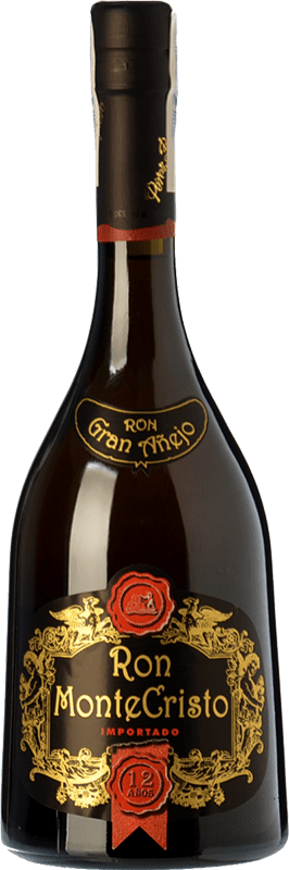 39,95 € Free Shipping | Rum Pérez Barquero Monte Cristo 12 Años Spain Bottle 70 cl