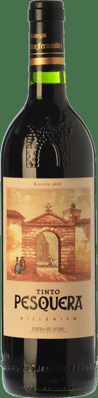 77,95 € Envoi gratuit | Vin rouge Pesquera Millenium Reserva 2008 D.O. Ribera del Duero Castille et Leon Espagne Tempranillo Bouteille 75 cl