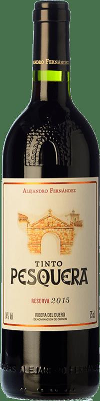 32,95 € Free Shipping | Red wine Pesquera Reserva D.O. Ribera del Duero Castilla y León Spain Tempranillo Bottle 75 cl