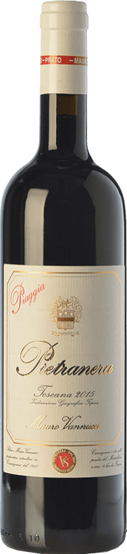 19,95 € Free Shipping | Red wine Piaggia Pietranera I.G.T. Toscana Tuscany Italy Sangiovese Bottle 75 cl