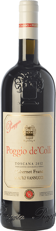 49,95 € Free Shipping | Red wine Piaggia Poggio de' Colli I.G.T. Toscana Tuscany Italy Cabernet Franc Bottle 75 cl