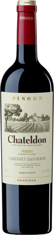 9,95 € | Red wine Pinord Chateldon Reserva D.O. Penedès Catalonia Spain Cabernet Sauvignon Bottle 75 cl