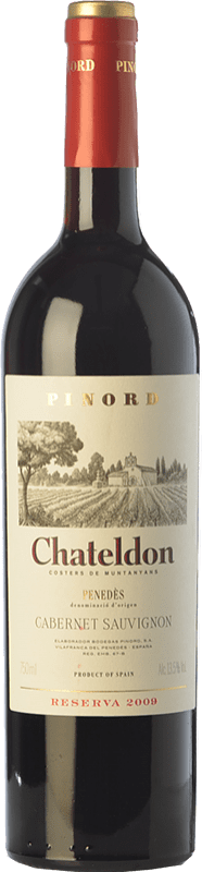 53,95 € Free Shipping | Red wine Pinord Chateldon Reserva 2009 D.O. Penedès Catalonia Spain Cabernet Sauvignon Jéroboam Bottle-Double Magnum 3 L
