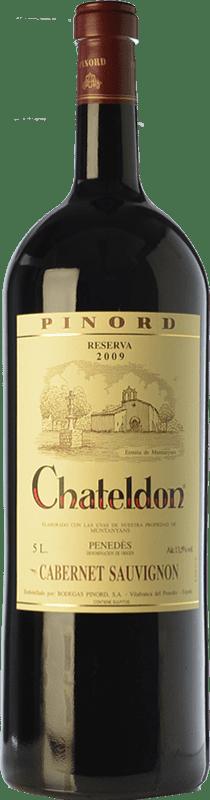 94,95 € Free Shipping | Red wine Pinord Chateldon Reserva 2009 D.O. Penedès Catalonia Spain Cabernet Sauvignon Special Bottle 5 L