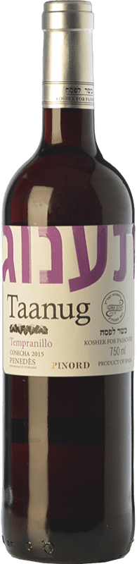8,95 € | Red wine Pinord Taanug Joven D.O. Penedès Catalonia Spain Tempranillo Bottle 75 cl