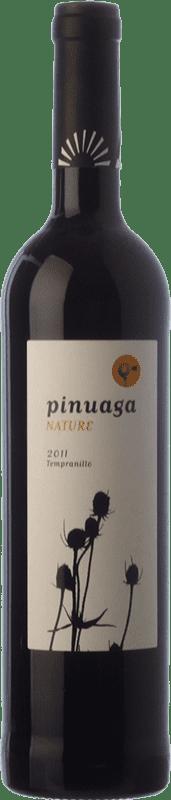 9,95 € | Red wine Pinuaga Nature Joven I.G.P. Vino de la Tierra de Castilla Castilla la Mancha Spain Tempranillo Bottle 75 cl