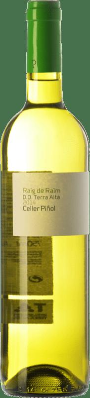 9,95 € Envío gratis | Vino blanco Piñol Raig de Raïm Blanc D.O. Terra Alta Cataluña España Garnacha Blanca, Macabeo Botella 75 cl