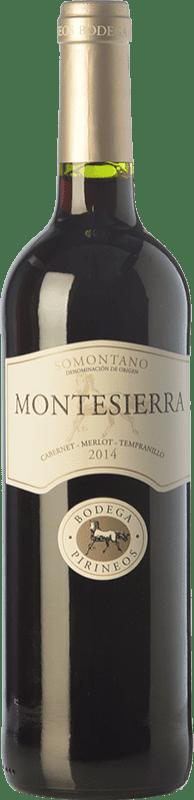 5,95 € 免费送货 | 红酒 Pirineos Montesierra Joven D.O. Somontano 阿拉贡 西班牙 Tempranillo, Cabernet Sauvignon 瓶子 75 cl