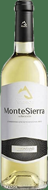 4,95 € Envío gratis | Vino blanco Pirineos Montesierra Joven D.O. Somontano Aragón España Macabeo, Chardonnay Botella 75 cl
