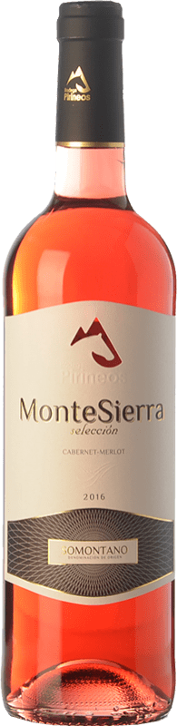 5,95 € | Rosé wine Pirineos Montesierra Joven D.O. Somontano Aragon Spain Merlot, Cabernet Sauvignon Bottle 75 cl