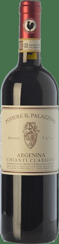 16,95 € | Red wine Il Palazzino Argenina D.O.C.G. Chianti Classico Tuscany Italy Sangiovese Bottle 75 cl