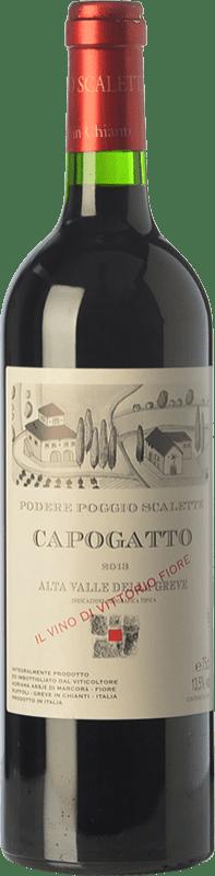 52,95 € Free Shipping | Red wine Podere Poggio Scalette Capogatto I.G.T. Alta Valle della Greve Tuscany Italy Merlot, Cabernet Sauvignon, Cabernet Franc, Petit Verdot Bottle 75 cl