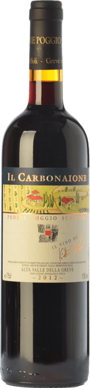 41,95 € Free Shipping | Red wine Podere Poggio Scalette Il Carbonaione I.G.T. Alta Valle della Greve Tuscany Italy Sangiovese Bottle 75 cl