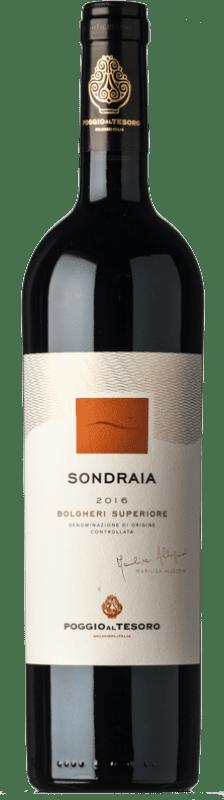63,95 € 免费送货 | 红酒 Poggio al Tesoro Sondraia D.O.C. Bolgheri 托斯卡纳 意大利 Merlot, Cabernet Sauvignon, Cabernet Franc 瓶子 75 cl