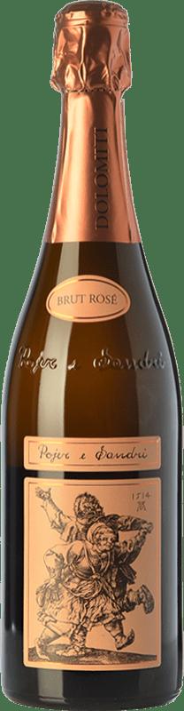 29,95 € Free Shipping | Rosé sparkling Pojer e Sandri Rosé Brut I.G.T. Vigneti delle Dolomiti Trentino Italy Pinot Black, Chardonnay Bottle 75 cl