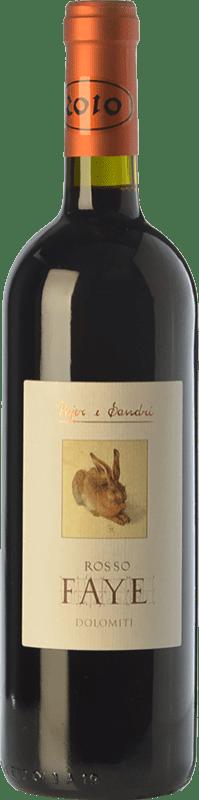39,95 € | Red wine Pojer e Sandri Rosso Faye I.G.T. Vigneti delle Dolomiti Trentino Italy Merlot, Cabernet Sauvignon, Cabernet Franc, Lagrein Bottle 75 cl