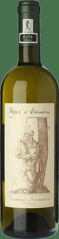 14,95 € Free Shipping | White wine Pojer e Sandri Traminer Aromatico I.G.T. Vigneti delle Dolomiti Trentino Italy Gewürztraminer Bottle 75 cl