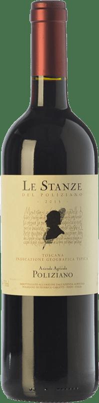 44,95 € 免费送货 | 红酒 Poliziano Le Stanze I.G.T. Toscana 托斯卡纳 意大利 Merlot, Cabernet Sauvignon 瓶子 75 cl