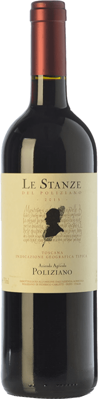 44,95 € Free Shipping | Red wine Poliziano Le Stanze I.G.T. Toscana Tuscany Italy Merlot, Cabernet Sauvignon Bottle 75 cl