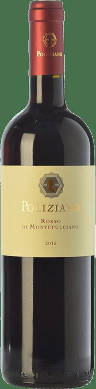 15,95 € Envío gratis | Vino tinto Poliziano D.O.C. Rosso di Montepulciano Toscana Italia Merlot, Sangiovese Botella 75 cl