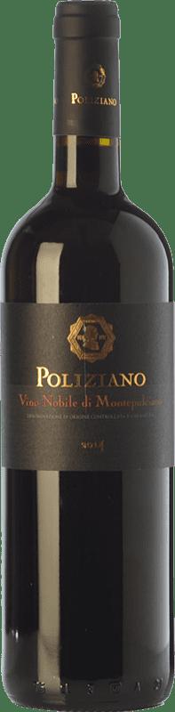28,95 € Envío gratis | Vino tinto Poliziano D.O.C.G. Vino Nobile di Montepulciano Toscana Italia Merlot, Colorino, Canaiolo, Prugnolo Gentile Botella 75 cl