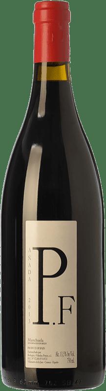 19,95 € Envío gratis | Vino tinto Ponce J. Antonio Pie Franco Crianza D.O. Manchuela Castilla la Mancha España Bobal Botella 75 cl