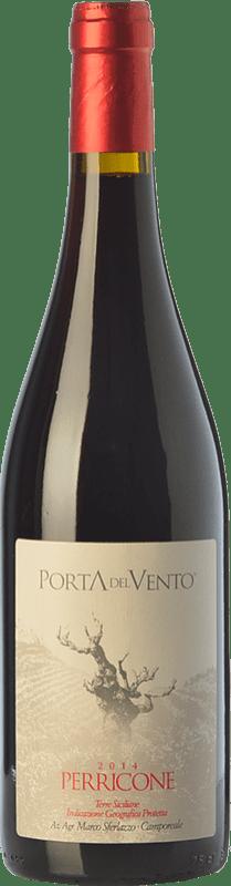 19,95 € Free Shipping | Red wine Porta del Vento I.G.T. Terre Siciliane Sicily Italy Perricone Bottle 75 cl