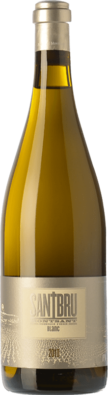16,95 € Envío gratis | Vino blanco Portal del Montsant Santbru Blanc Crianza D.O. Montsant Cataluña España Garnacha Blanca, Chardonnay Botella 75 cl
