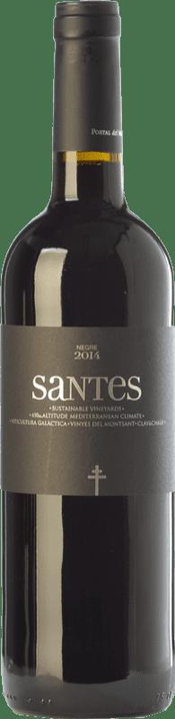 7,95 € Envío gratis | Vino tinto Portal del Montsant Santes Negre Joven D.O. Catalunya Cataluña España Tempranillo Botella 75 cl