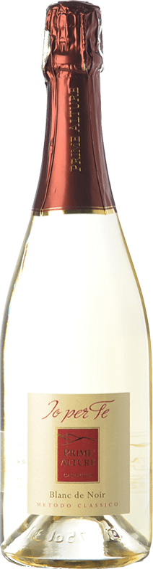 17,95 € Free Shipping | White sparkling Prime Alture Io Per Te Blanc de Noir D.O.C.G. Oltrepò Pavese Metodo Classico Lombardia Italy Pinot Black Bottle 75 cl